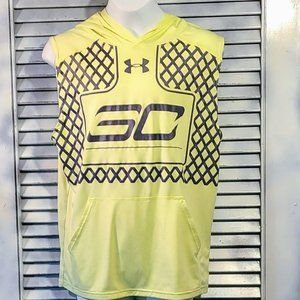 Under Armour Youth Lg Hooded Muscle Top